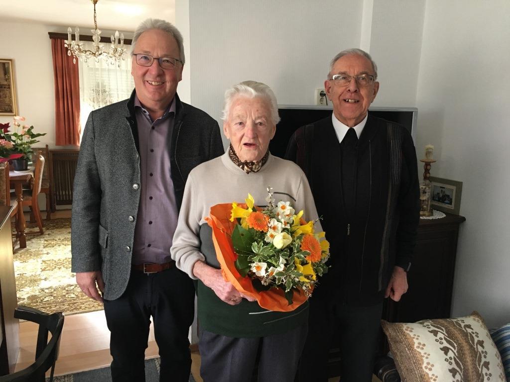 Gratulation Frau Bauer