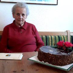 Gratulation Frau Scheureder