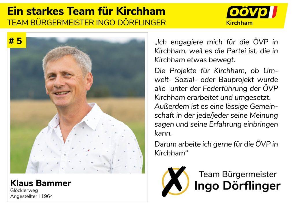 Kandidatenvorstellung Platz 5 – Klaus Bammer