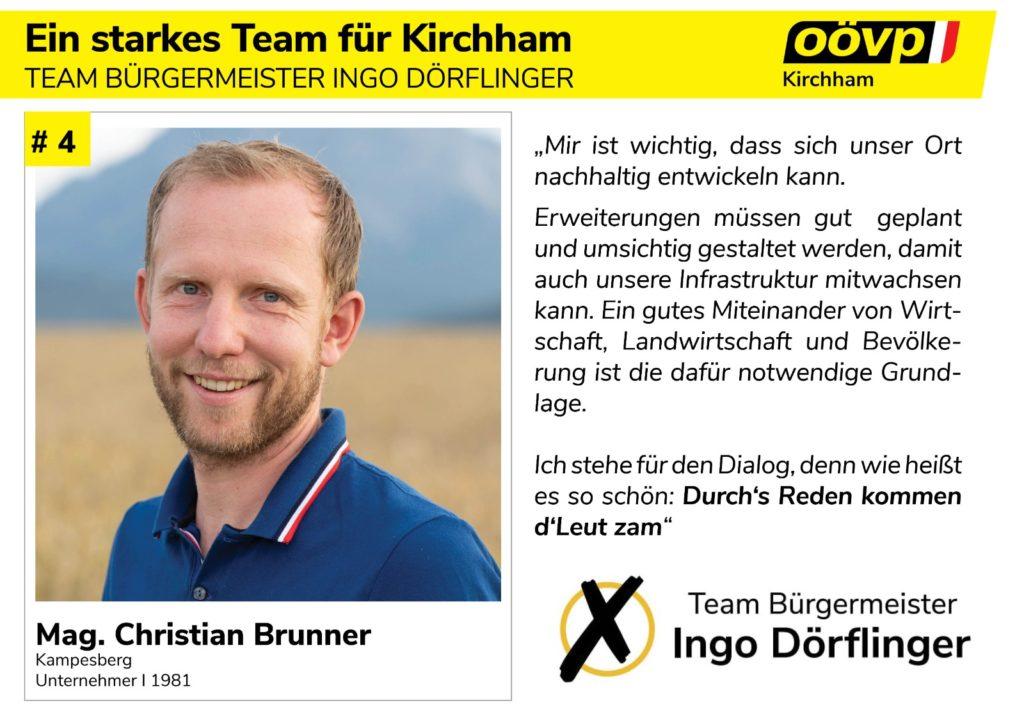Kandidatenvorstellung Platz 4 – Christian Brunner